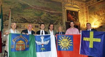 Calcio storico, le bandiere dei quattro colori