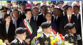 Commemorazione caduti americani al cimitero dei Falciani