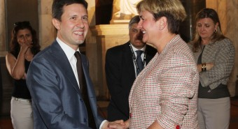 Il ministro Guidi a Palazzo Vecchio per l'inaugurazione di Pitti Uomo
