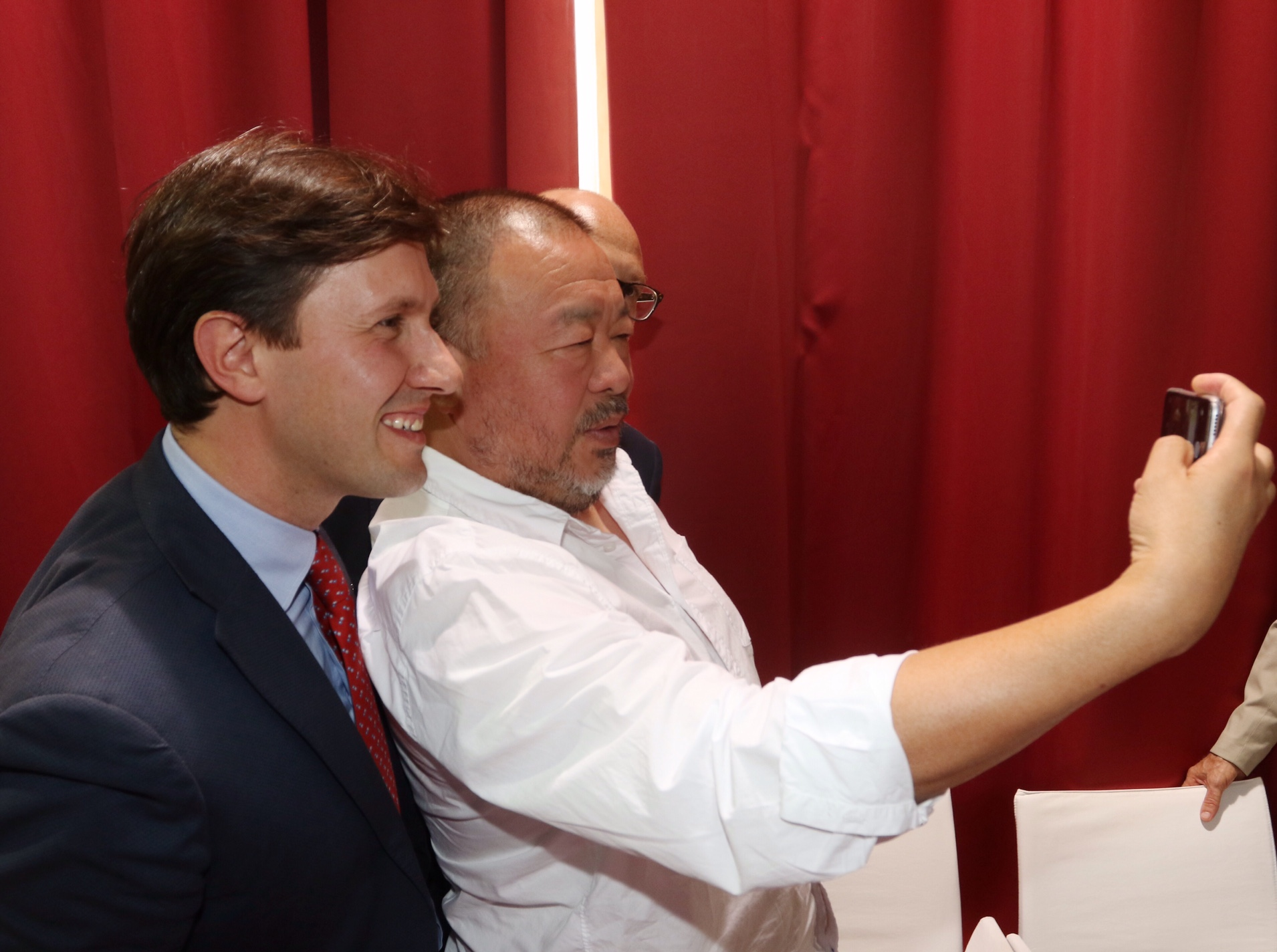 Con l'artista Ai Weiwei a Palazzo Strozzi