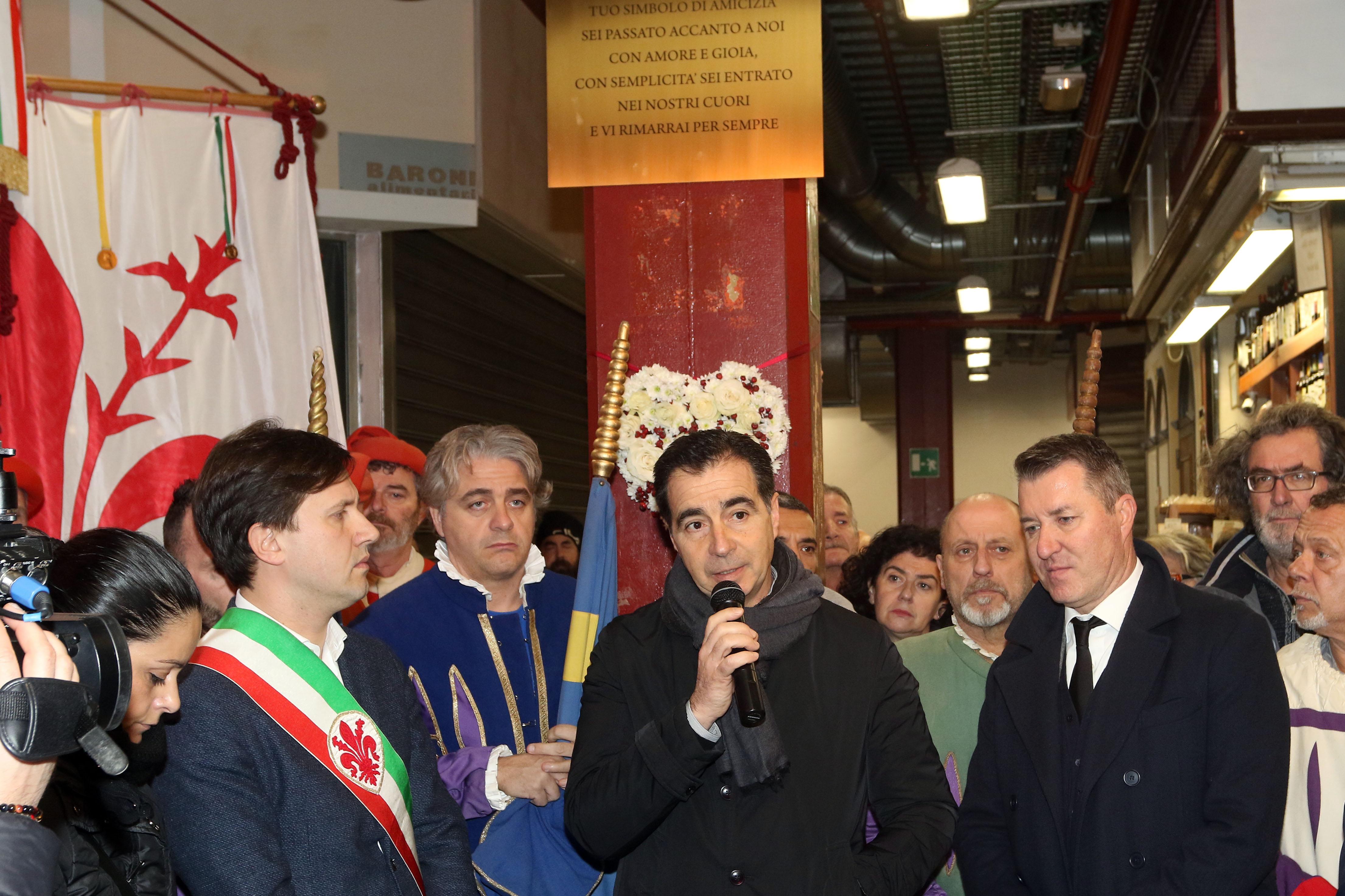 Targa in ricordo di Niccolò Ciatti al Mercato di San Lorenzo