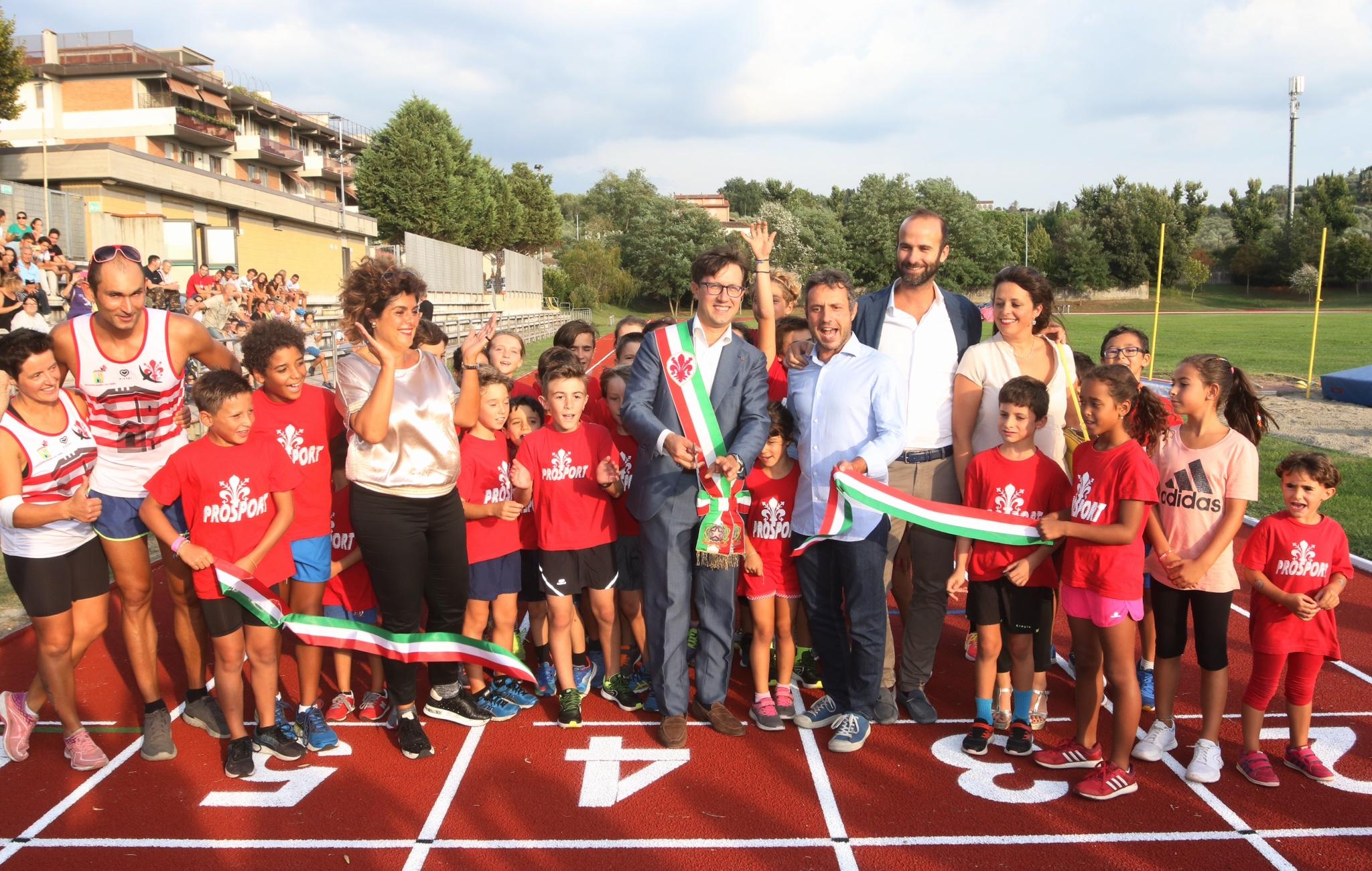 Nuova pista di atletica al Campo del Filarete