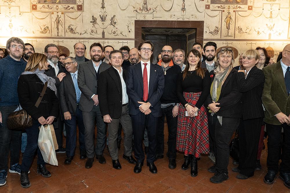 Sala di Lorenzo Palazzo Vecchio, auguri di Natale ai giornalisti, 19 dicembre 2019