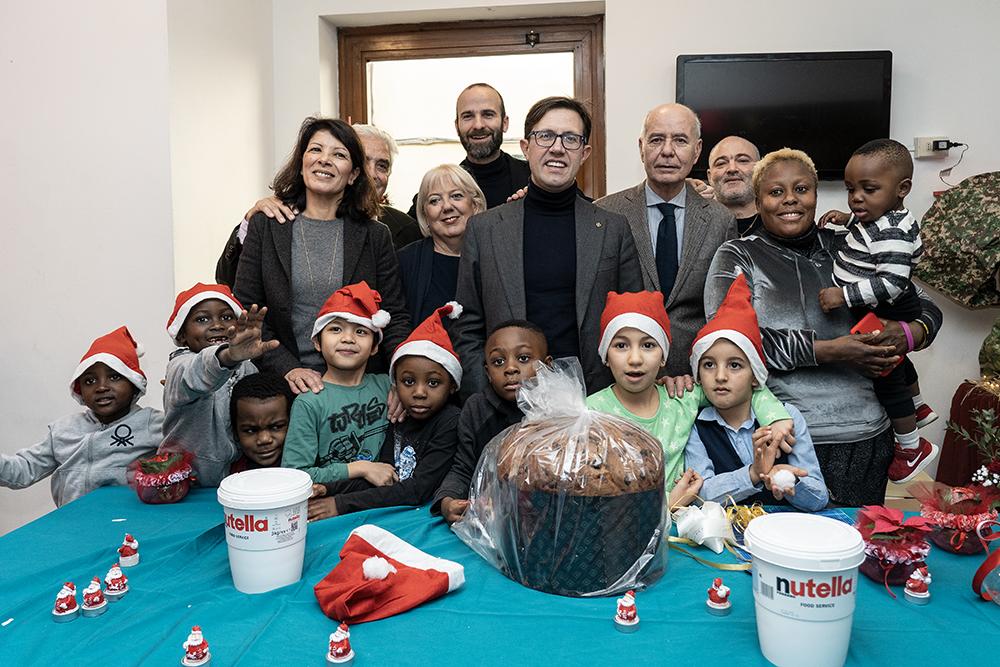 Auguri di Natale alla Casa della Solidarietà San Paolino, 24 dicembre 2019