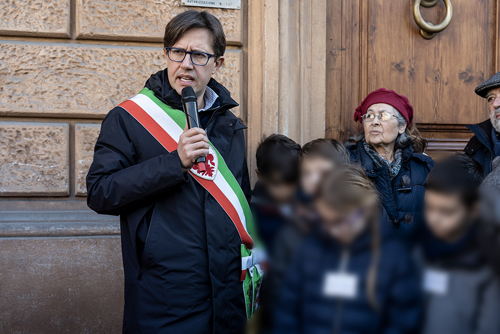 Pietre d'inciampo, piazza d'Azeglio 12, 23 gennaio 2020