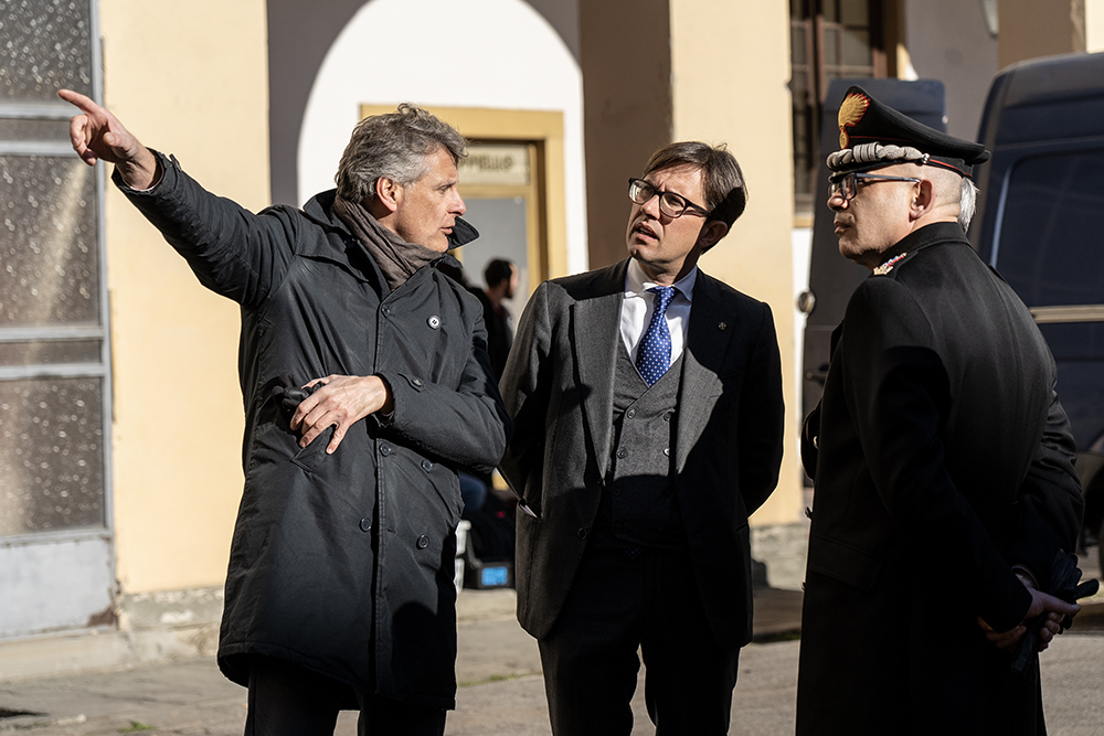 Sopralluogo nel cantiere del futuro presidio dei Carabinieri in piazza Santa Maria Novella, 8 gennaio 2020