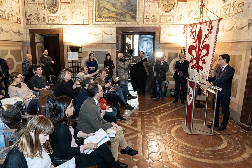 Conferenza stampa, Palazzo Vecchio, 15 gennaio 2020