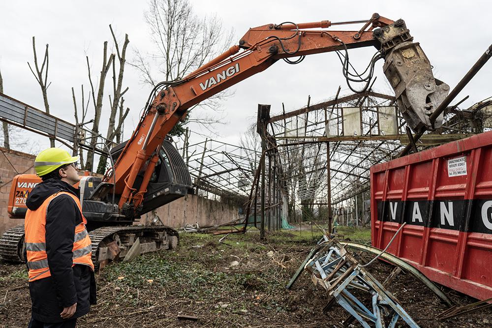 Inizio demolizione Ex-Gover, 10 febbraio 2020
