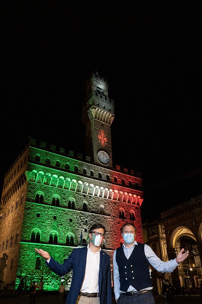 Firenze si illumina col tricolore, 2 giugno 2020
