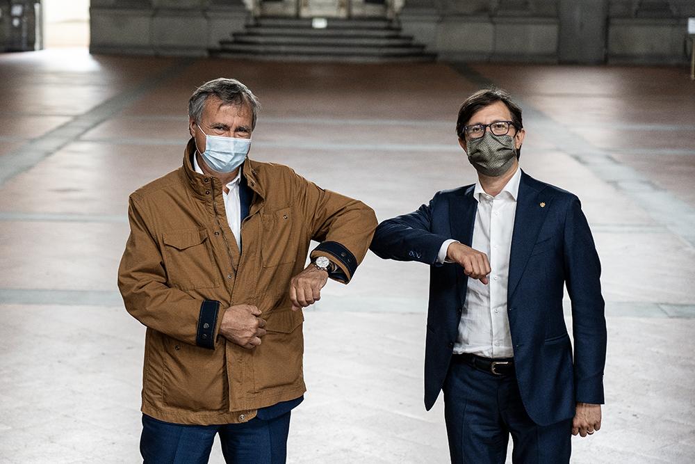 In visita a Firenze il sindaco di Venezia Luigi Brugnaro, 11 giugno 2020