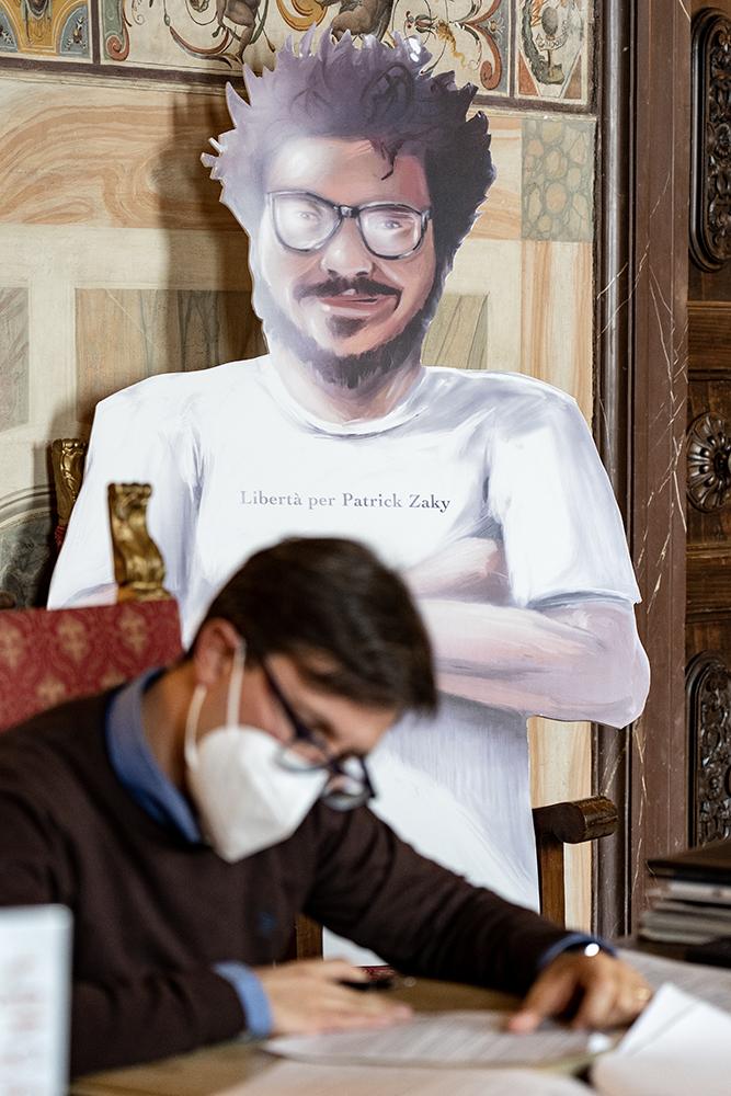 Patrick Zaki, ricercatore ingiustamente detenuto in Egitto, ufficio del sindaco 11 ottobre 2020