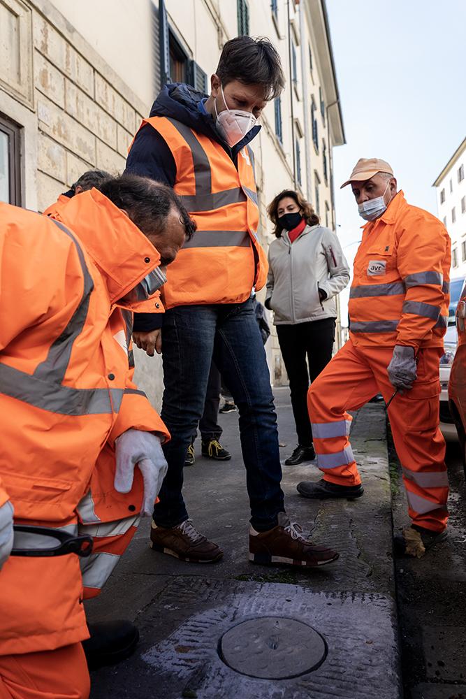 Sopralluoghi in città, per controllare l'avanzamento dei lavori, 21 novembre 2020