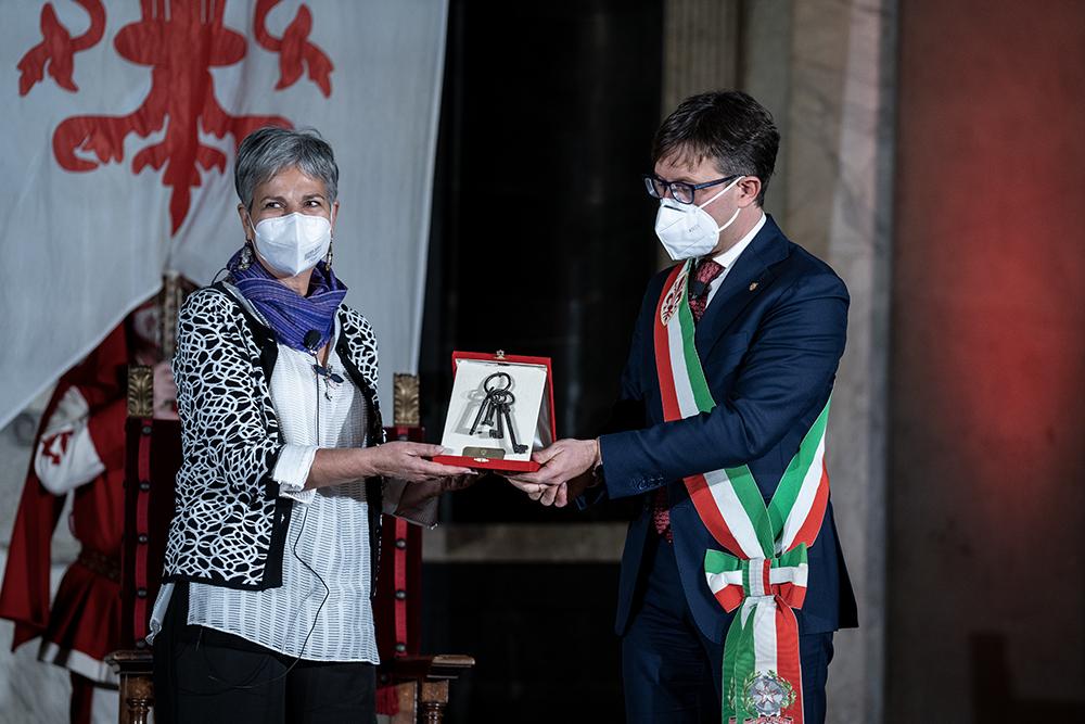 Consegna chiavi della città a Nasrin Sotoudeh, 24 novembre 2020