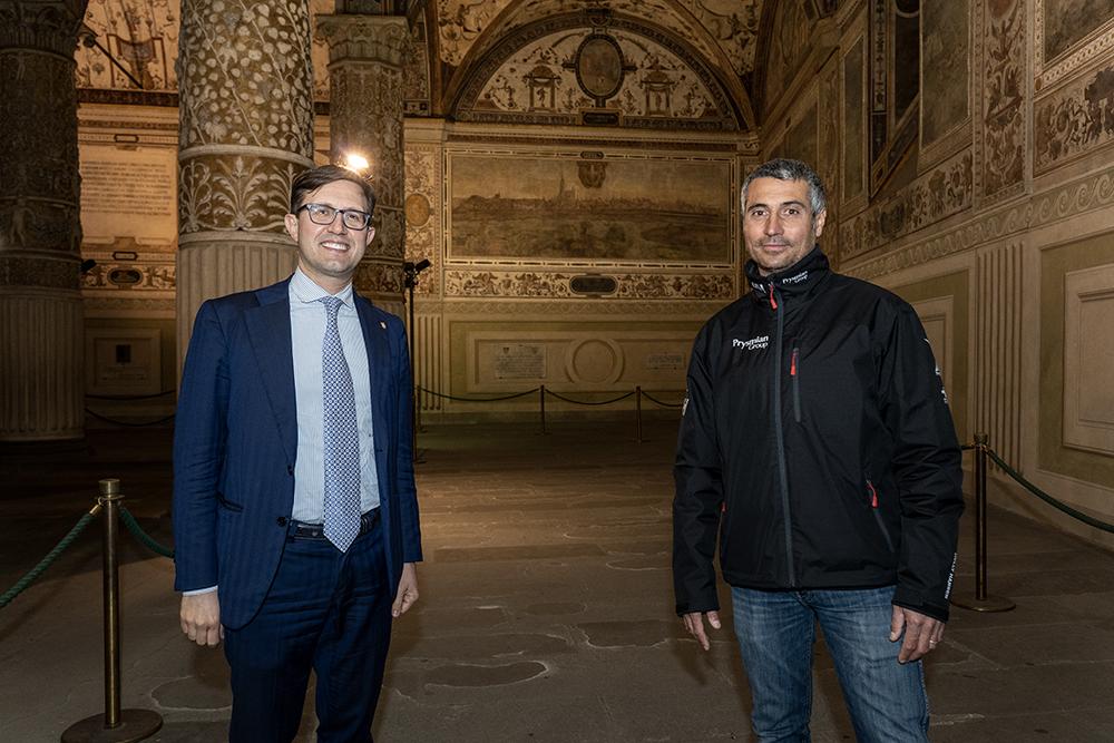 Con Giancarlo Pedote oggi a Palazzo Vecchio, 16 marzo 2021