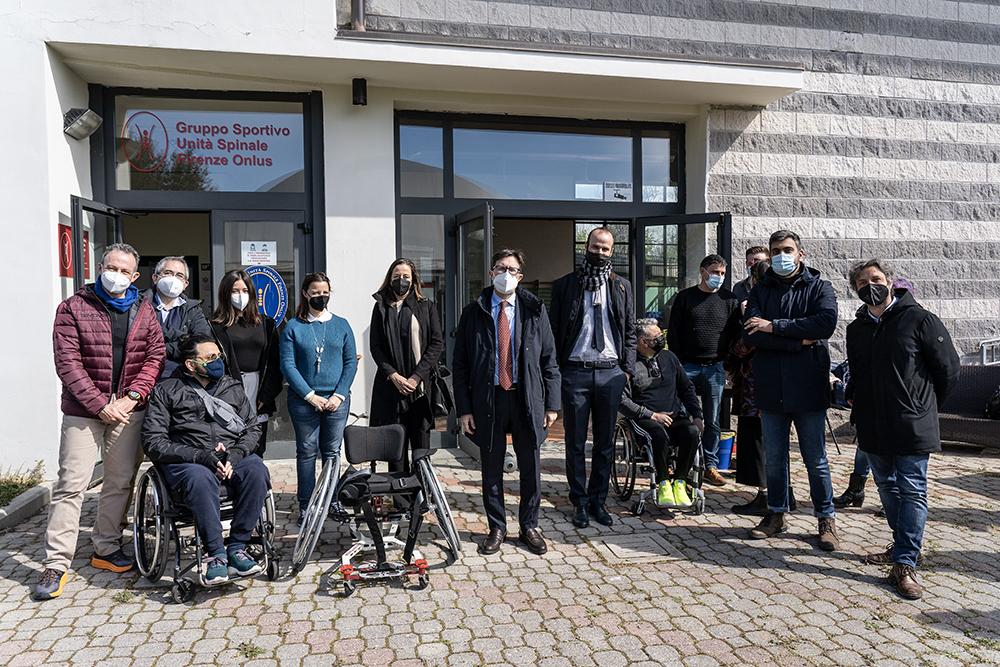 Donazione dell' Associazione Borgogni al GS Spinale Firenze Onlus , una nuova carrozzina per giocare a tennis, 23 marzo 2021