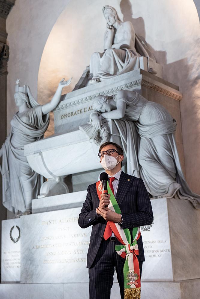 Restaurato il Cenotafio di Dante Alighieri nella Basilica di Santa Croce, 25 marzo 2021