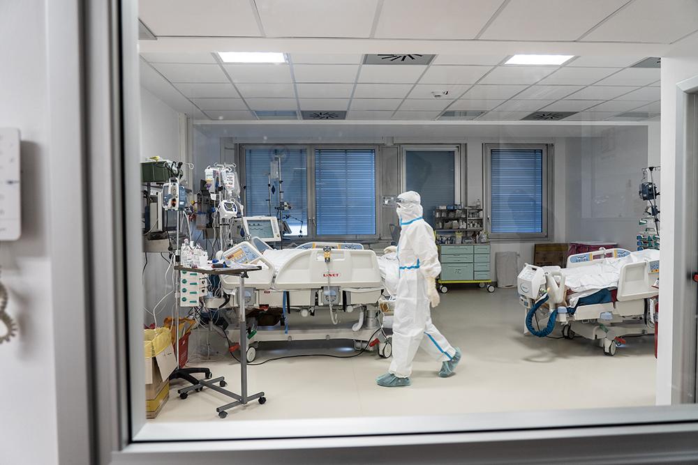 Visita ai medici e infermieri dell'ospedale Santa Maria Annunziata, 30 marzo 2021