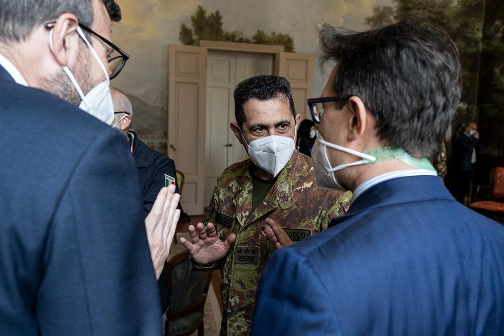 In visita a Firenze il Generale Figliuolo e il capo della Protezione Civile,18 maggio 2021