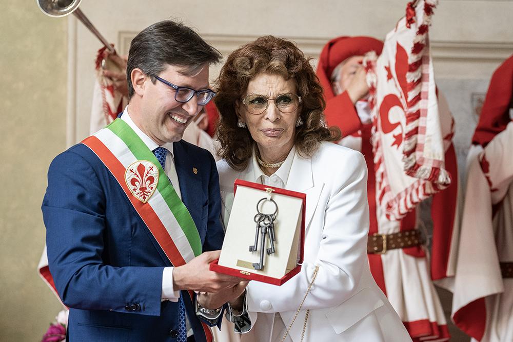 Le chiavi della città di Firenze a Sofia Loren, 5 giugno 2021
