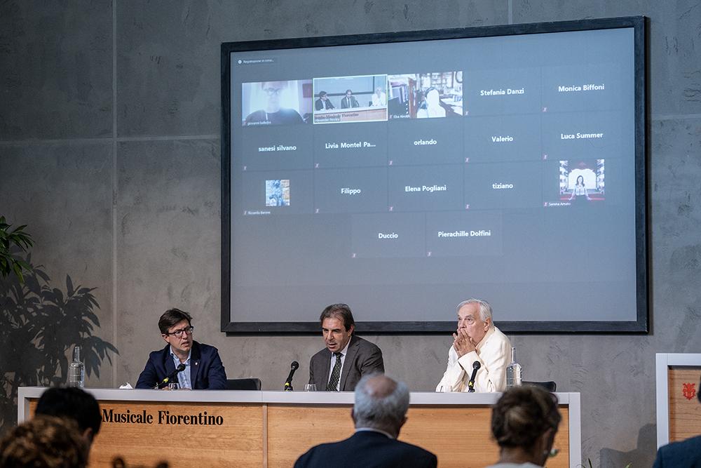 Conferenza stampa al Maggio Musicale Fiorentino, 8 luglio 2021