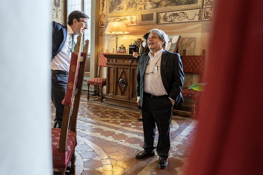 In visita a Palazzo Vecchio il Ministro  Renato Brunetta, 26 giugno 2021