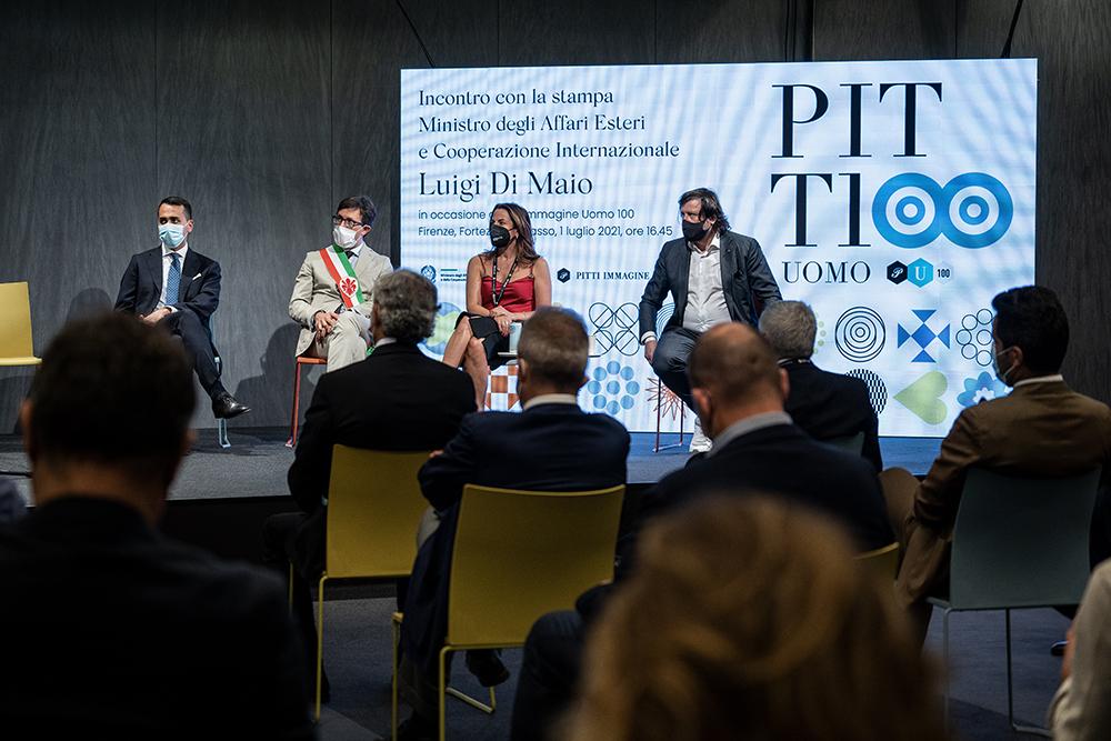 In visita all'edizione cento di Pitti con il Ministro Luigi Di Maio, 1 luglio 2021