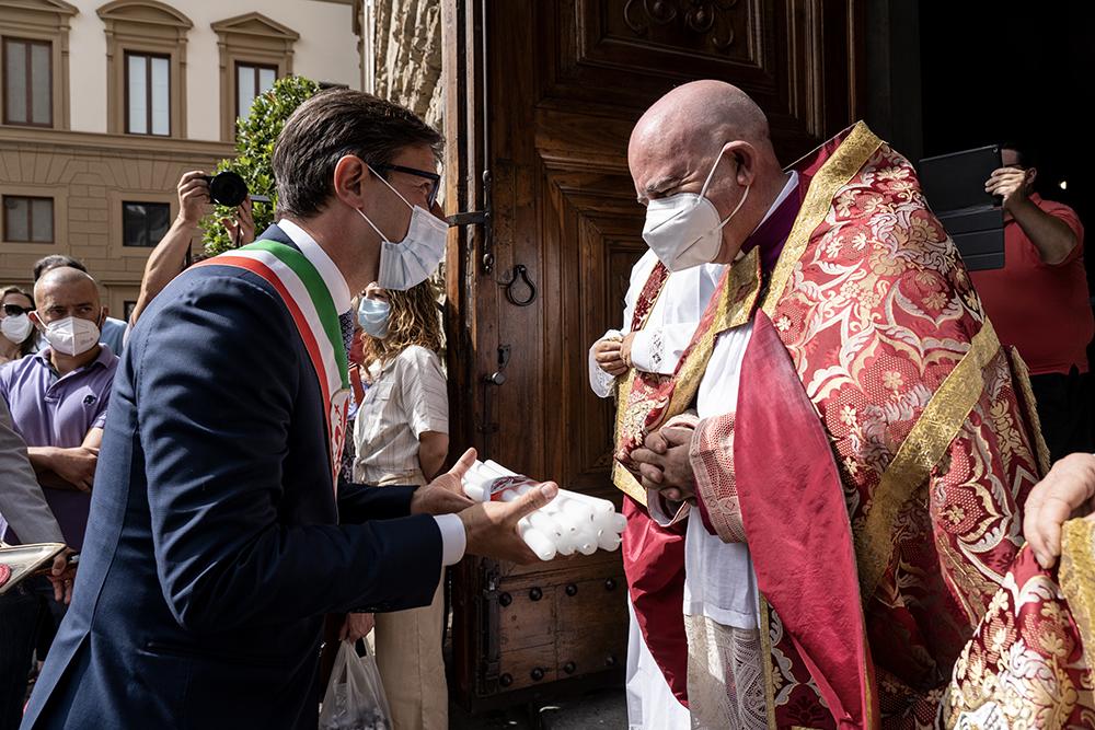 Celebrazione tra le vie della città , San Lorenzo co-patrono di Firenze, 10 agosto 2021
