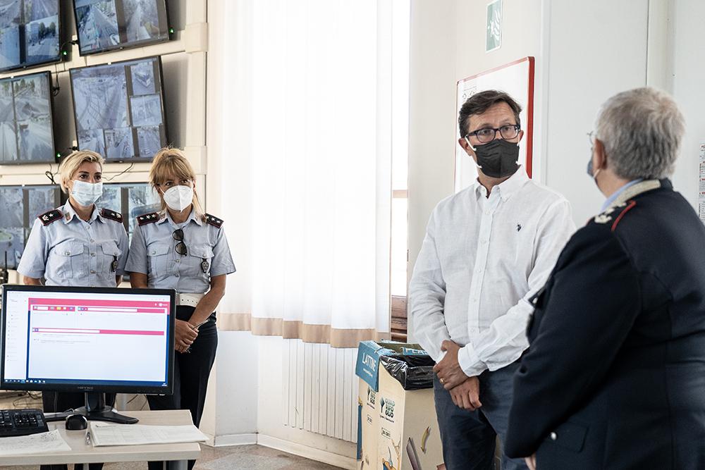 Visita agli agenti della centrale operativa della nostra Polizia Municipale, 15 agosto 2021