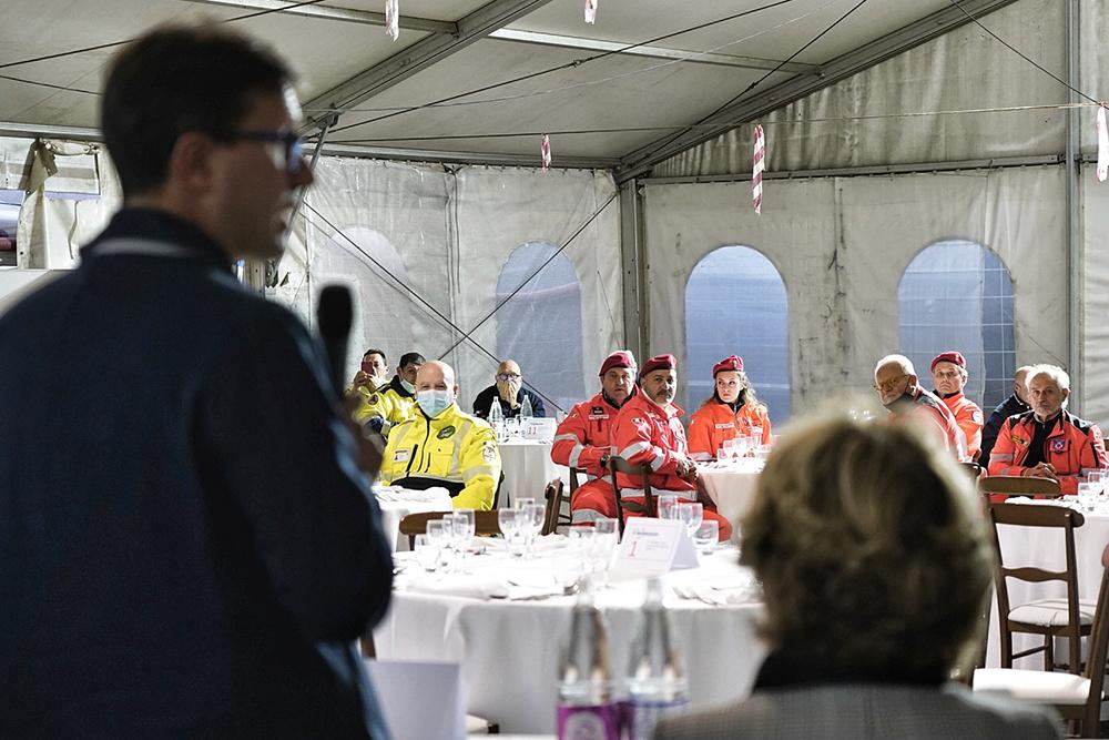 Con i volontari e dipendenti della Protezione Civile di Firenze, 14 ottobre 2021